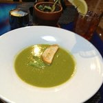 Sweet Pea Soup...no small portion here!