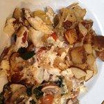 Egg white omelette with mushroom & spinach
