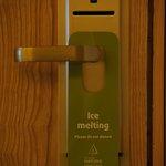 Witty do-not-disturb door hanger
