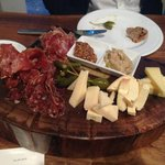 Charcuterie and cheese sampler
