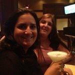 drinks w my friend Nathalie