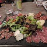 assiette mixte, charcuteries + fromages :)