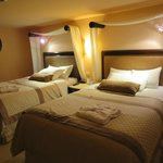 Double beds upstairs