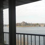 View of St Lawrence River with Boldt Castle
