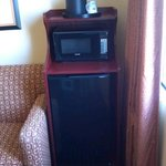 Mini fridge and microwave in our sweet suite!