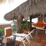 The terrace in Casa Palapa.
