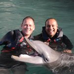 Spending time with some amazing animals at Dolphin Quest Bermuda