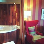 The Jacuzzi in the king suite