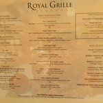 expensive menu Royal Grille