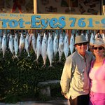 My parents standing proud in front of the catch