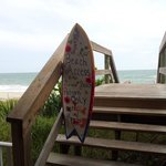 Stairway to beach
