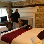 fireplace in bed room