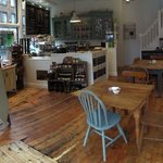 Speciality teas, coffees, delicious sandwiches made with artisan breads and homemade cakes.