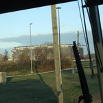 View from the 351 Meadowlands Express bus