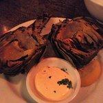 Roasted artichoke, lemony dijon aioli