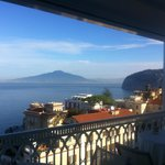 Vesuvius from restaurant balcony