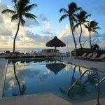 Pool overlooking ocean