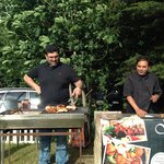 Outside catering BBQ