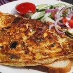 Bacon, Cheese & Mushroom Omelette