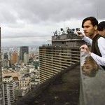 Linda visão do alto do Edifício Copan!