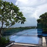 Pool on hotel rooftop