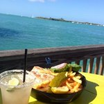 lunch on the pier at the hotel