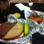 Great food! The fried kanish was AWSoME as was the sandwich and the garlic pickle!  The mustard