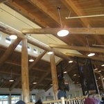 Rafters in the restaurant