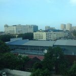A view of Kota Bharu city center from isle window