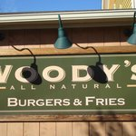 The sign at Woody's