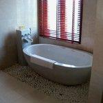 Tub in master bedroom