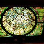Stained glass dome in what was the Nickerson's gallery