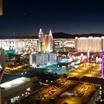 View of the South end of the Strip