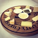 Cheese platter with good bread