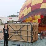 me next to the balloon