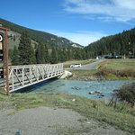 bridge crossing to the ranch