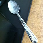 Dirty spoon left at my room for 3 days