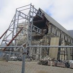 Christchurch damaged cathedral