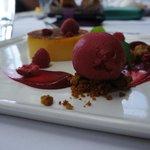 Raspberry Cream brulee