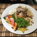 Mahi Mahi, Chips & Salad