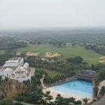 Excellent view overlooking the resort