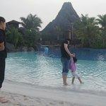 Outdoor pool side & beach