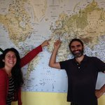 Our beautiful hosts, Pasquali from Gaeta and Marta from Spain