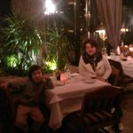 Семьей в ресторане