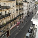 Rue de Delta vista dal balcone della camera sita al quarto piano