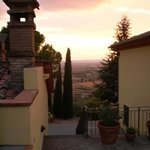 Looking from the back terrace to the sunset