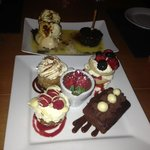 Our platter of mini desserts - beautiful!
