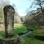 Celtic Cross looking down valley crucis