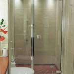 Muirgold Suite: The shower (there is also a bathtub)