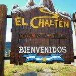 Cartel ingreso al Chalten